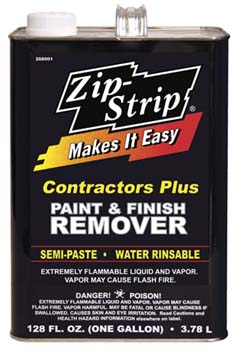 ZIP STRIP 288001 CONTRACTORS PLUS PAINT AND FINISH REMOVER SIZE:1 GALLON. PACK:2 GALLONS.