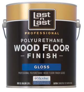 ABSOLUTE COATINGS 56501 LAST N LAST POLYURETHANE WOOD FLOOR FINISH GLOSS 350 VOC SIZE:1 GALLON.