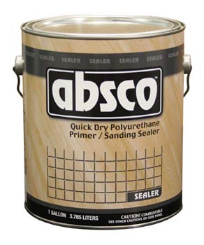 ABSOLUTE COATINGS 89301 ABSCO POLYURETHANE QUICK DRY SANDING SEALER 500 VOC SIZE:1 GALLON.