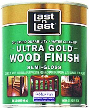 ABSOLUTE COATINGS 92204 LAST N LAST ULTRA GOLD WOOD FINISH SEMI GLOSS 275 VOC SIZE:QUART.
