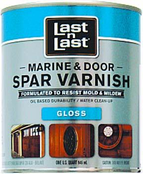 ABSOLUTE COATINGS 94004 LAST N LAST MARINE & DOOR SPAR VARNISH GLOSS 275 VOC SIZE:QUART.