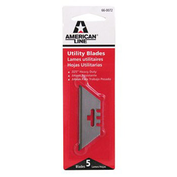 AMERICAN LINE 66-0072 3 NOTCH UTILITY BLADE SIZE:.025 PACK:5 PCS.