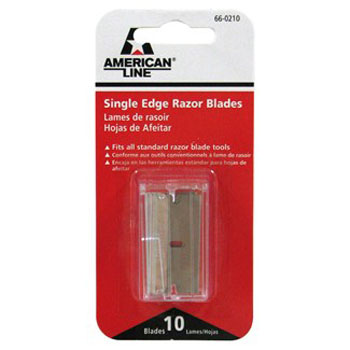 AMERICAN LINE 66-0210 ALUMINUM SINGLE EDGE BLADE SAFETY DISPENSER SIZE:.009 PACK:10 PCS.