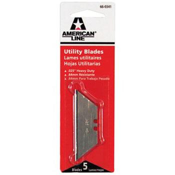 AMERICAN LINE 66-0341 2 NOTCH UTILITY BLADE SIZE:.025 PACK:5 PCS.