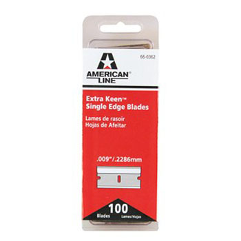 AMERICAN LINE 66-0362 EXTRA-KEEN SINGLE EDGE BLADE SIZE:.009 PACK:100 PCS.