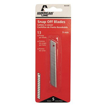 AMERICAN LINE 66-0378 BREAK AWAY BLADE SIZE:13 PT PACK:5 PCS.