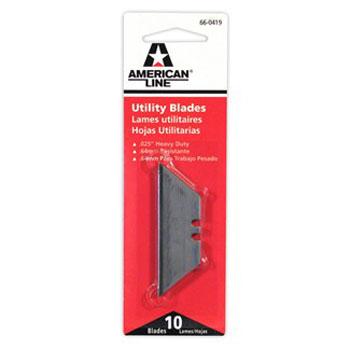 AMERICAN LINE 66-0419 2 NOTCH UTILITY BLADE PACK:10 PCS.
