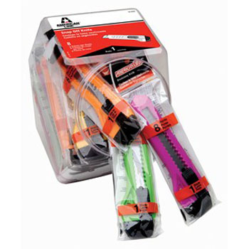 AMERICAN LINE 66-0456 NEON PLASTIC SNAP OFF KNIFE BUCKET SIZE:8 PT PACK:25 PCS.