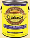 CABOT STAIN 10801 PRO V.T. WHITE BASE  SOLID ACRYLIC SIZE:1 GALLON.