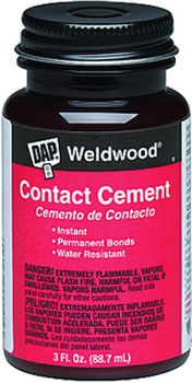 DAP 00107 WELDWOOD CONTACT CEMENT SIZE:3 OZ PACK:12 PCS.