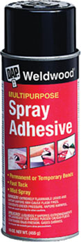 DAP 00118 WELWOOD MULTIPURPOSE SPRAY ADHESIVE SIZE:16 OZ PACK:12 PCS.
