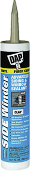 DAP 00804 SIDE WINDER ADVANCED POLYMERY SIDING & WINDOW SEALANT CLAY SIZE:10.1 OZ PACK:12 PCS.