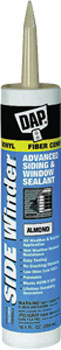 DAP 00813 SIDE WINDER ADVANCED POLYMERY SIDING & WINDOW SEALANT ALMOND SIZE:10.1 OZ PACK:12 PCS.