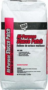 DAP 10502 ALL-PURPOSE STUCCO PATCH WHITE SIZE:25 LBS.