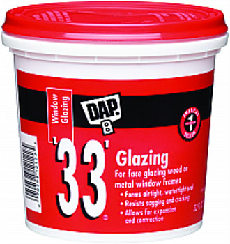 DAP 12122 33 WHITE GLAZING SIZE:QUART.