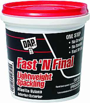 DAP 12140 FAST N FINAL LIGHTWEIGHT SPACKLING (RTU) SIZE:0.5 PINT.