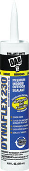 DAP 18275 DYNAFLEX 230 PREMIUM ELASTOMERIC LATEX SEALANT WHITE SIZE:10.3 OZ PACK:12 PCS.