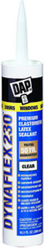 DAP 18304 DYNAFLEX 230 PREMIUM ELASTOMERIC LATEX SEALANT CLEAR SIZE:10.3 OZ PACK:12 PCS.