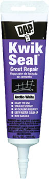 DAP 18372 KWIK SEAL GROUT REPAIR ARCTIC WHITE SIZE:4 OZ PACK:6 PCS.