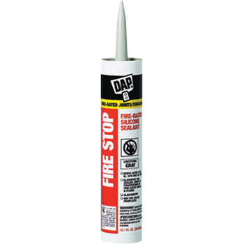 DAP 18806 FIRESTOP FIRE RATED SILICONE SEALANT SIZE:10.1 OZ PACK:12 PCS.