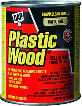 DAP 21506 PLASTIC WOOD SOLVENT WOOD FILLER NATURAL SIZE:16 OZ.