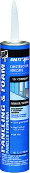DAP 27425 BEATS THE NAIL PANELING & & FOAM VOC-COMPLIANT CONSTRUCTION ADHESIVE SIZE:10.3 OZ PACK:12 PCS.