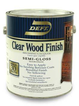 DEFT 01101 SEMI GLOSS CLEAR WOOD FINISH SIZE:1 GALLON.