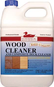 DUCKBACK DB-1440-4 SUPERDECK WOOD CLEANER SIZE:1 GALLON.