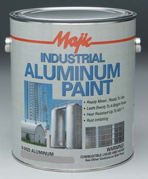 MAJIC 00255 8-0025 INDUSTRIAL ALUMINUM PAINT SIZE:5 GALLONS.