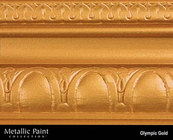 MODERN MASTERS METALLIC PAINT 92005 ME-659 OLYMPIC GOLD SIZE:1 GALLON.