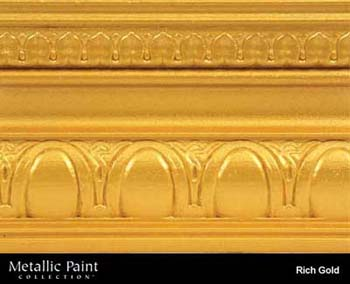 MODERN MASTERS ME701-06 RICH GOLD METALLIC PAINT SIZE:6 OZ.