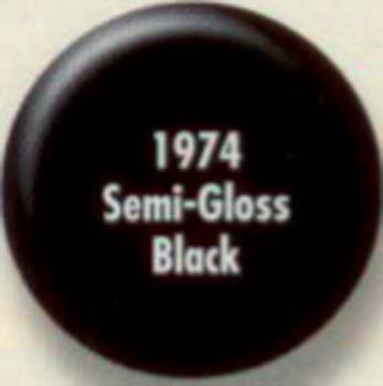 RUSTOLEUM 19747 1974730 SEMI GLOSS BLACK PAINTERS TOUCH SIZE:1/2 PINT PACK:6 PCS.