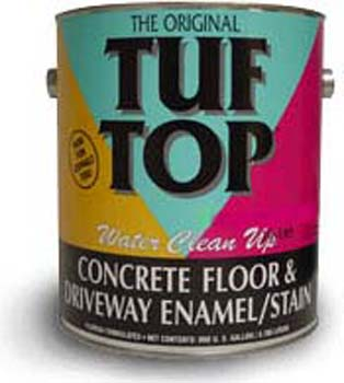 TUF TOP 10-115 LIGHT TINT BASE FLOOR AND DRIVEWAY COATING WATER BASED SIZE:5 GALLONS.