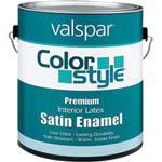 VALSPAR 26929 COLOR STYLE INT LATEX SATIN CLEAR BASE SIZE:1 GALLON.