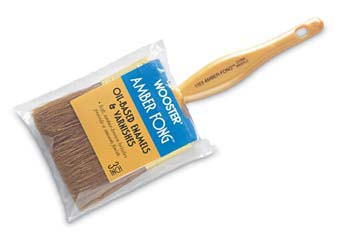 "WOOSTER 1123 AMBER FONG VARNISH BRUSH BROWN CHINA BRISTLE SIZE:4"" PACK:6 PCS."