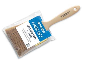 """WOOSTER 1232 AMBER GLO PAINT BRUSH SIZE:3"""" PACK:12 PCS."""