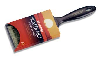 "WOOSTER Q3118 GOLDEN GLO NYLON POLY FLAT PAINT BRUSH SIZE:1"" PACK:12 PCS."