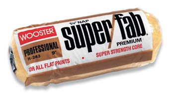 "WOOSTER R243 SUPER FAB COVER SIZE:9"" NAP:1 1/4"" PACK:12 PCS."