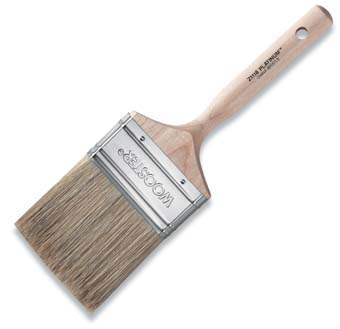 "WOOSTER Z1118 PLATINUM PAINT BRUSH SIZE:3 1/2"" PACK:6 PCS."