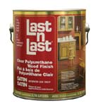 ABSOLUTE COATINGS 50101 LAST N LAST POLYURETHANE WOOD FINISH SATIN SIZE:1 GALLON.