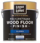 ABSOLUTE COATINGS 54001 LAST N LAST POLYURETHANE WOOD FLOOR FINISH GLOSS 450 VOC SIZE:1 GALLON.