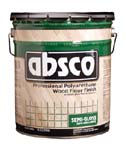 ABSOLUTE COATINGS 89205 ABSCO POLYURETHANE WOOD FLOOR FINISH SEMI GLOSS 450  VOC SIZE:5 GALLONS.