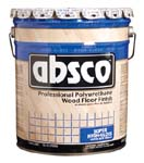 ABSOLUTE COATINGS 89505 ABSCO POLYURETHANE WOOD FLOOR FINISH GLOSS 350 VOC SIZE:5 GALLONS.