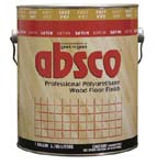 ABSOLUTE COATINGS 89611 ABSCO POLYURETHANE FAST DRY WOOD FLOOR FINISH SATIN 550 VOC SIZE:1 GALLON.