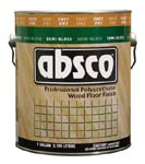 ABSOLUTE COATINGS 89621 ABSCO POLYURETHANE FAST DRY WOOD FLOOR FINISH SEMI GLOSS 550 VOC SIZE:1 GALLON.