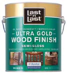 ABSOLUTE COATINGS 92201 LAST N LAST ULTRA GOLD WOOD FINISH SEMI GLOSS 275 VOC SIZE:1 GALLON.
