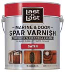ABSOLUTE COATINGS 94101 LAST N LAST MARINE & DOOR SPAR VARNISH SATIN 275 VOC SIZE:1 GALLON.