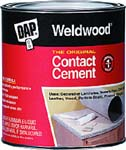 DAP 00273 WELDWOOD ORIGINAL CONTACT CEMENT SIZE:1 GALLON.