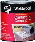 DAP 00273 WELDWOOD ORIGINAL CONTACT CEMENT SIZE:1 GALLON.