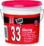 DAP 12019 33 WHITE GLAZING SIZE:1 GALLON.